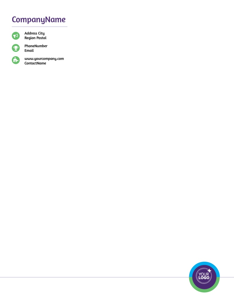 Medical Technology Letterhead Template Preview 2