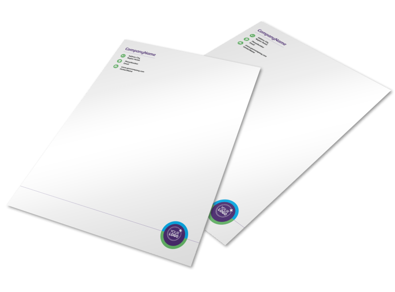 Medical Technology Letterhead Template Preview 1