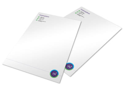 Medical Technology Letterhead Template preview