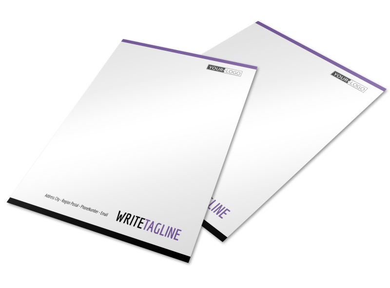 Fitness Gym Letterhead Template Preview 1