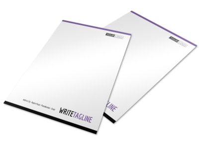 Fitness Gym Letterhead Template preview