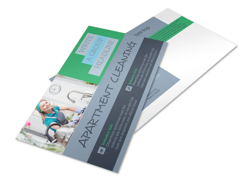 Affordable Apartment Cleaning Postcard Template
