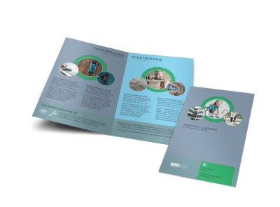 Affordable Apartment Cleaning Bi-Fold Brochure Template