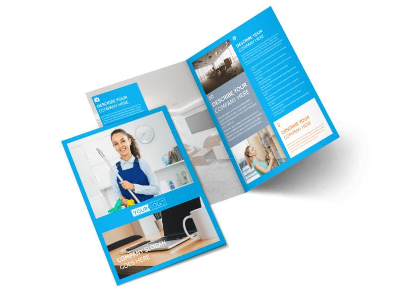 Office Cleaning Specialist Bi-Fold Brochure Template 2