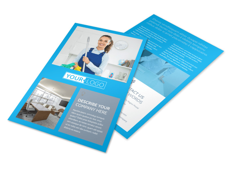 Office Cleaning Specialist Flyer Template 3