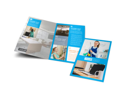 Office Cleaning Specialist Bi-Fold Brochure Template