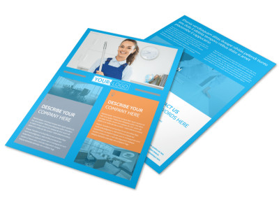 Office Cleaning Specialist Flyer Template