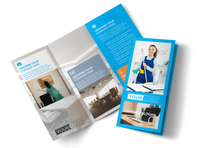 Office Cleaning Specialist Tri-Fold Brochure Template preview