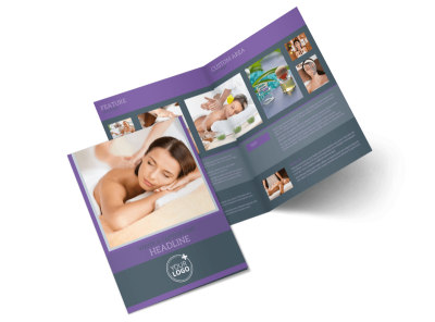 Relaxing Day Spa Bi-Fold Brochure Template 2