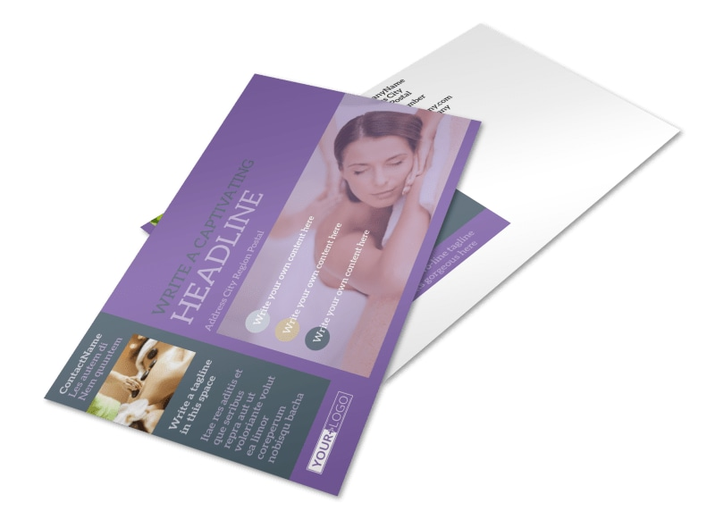 Relaxing Day Spa Postcard Template 2