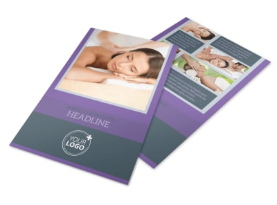 Relaxing Day Spa Flyer Template 3