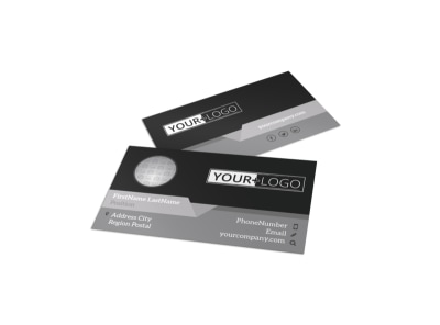Generic Business Card Template 10969