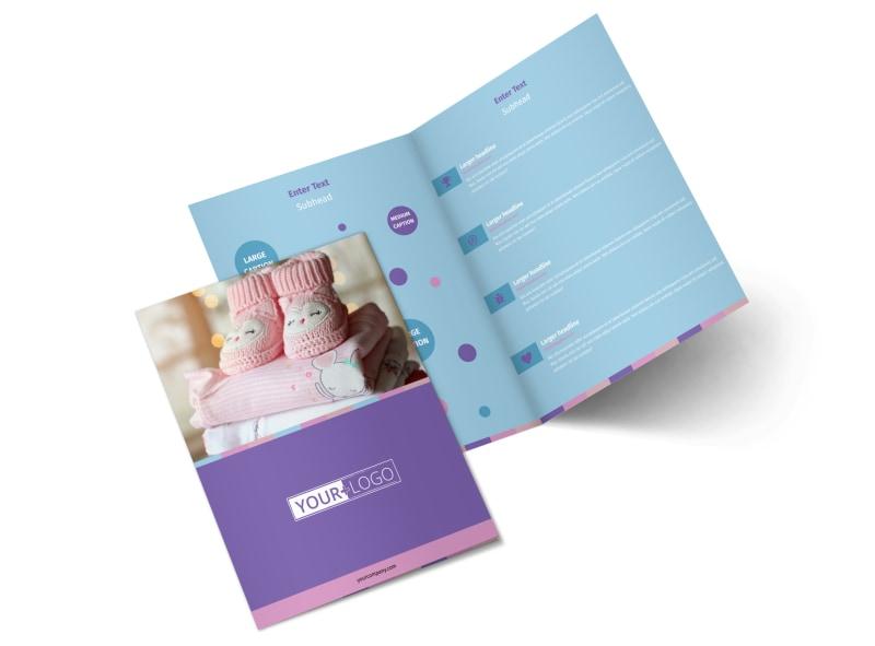 Fun Baby Shower Service Bi-Fold Brochure Template 2