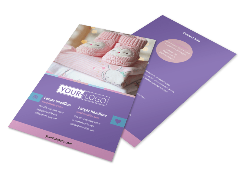 Fun Baby Shower Service Flyer Template Preview 1
