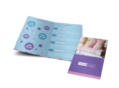 Fun Baby Shower Service Bi-Fold Brochure Template