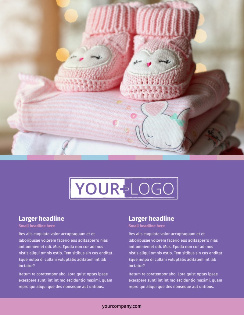 Fun Baby Shower Service Flyer Template Preview 2