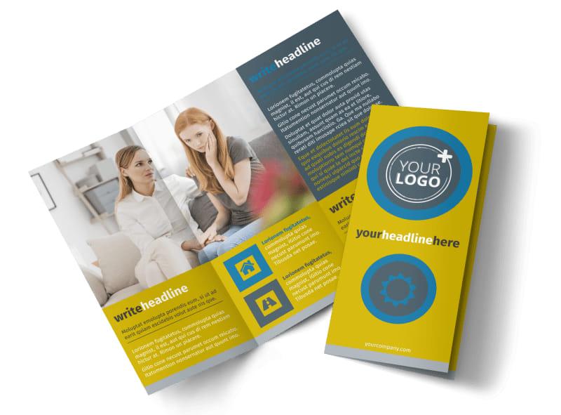 Elite Mental Health Tri-Fold Brochure Template