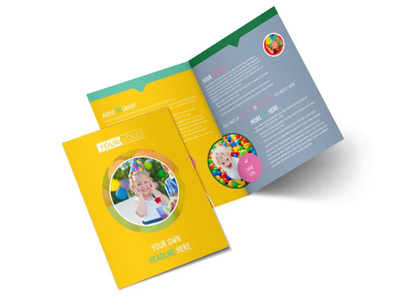 Children Party Fun Bi-Fold Brochure Template 2