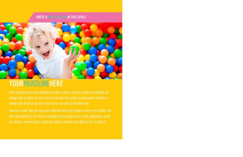 Children Party Fun Postcard Template Preview 3