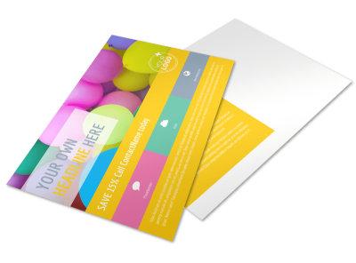 Children Party Fun Postcard Template preview