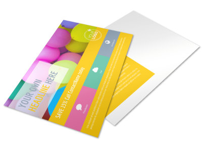 Children Party Fun Postcard Template preview