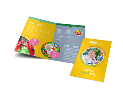 Children Party Fun Bi-Fold Brochure Template