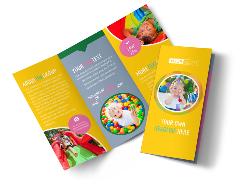 Children party fun brochure template mycreativeshop for Fun brochure templates