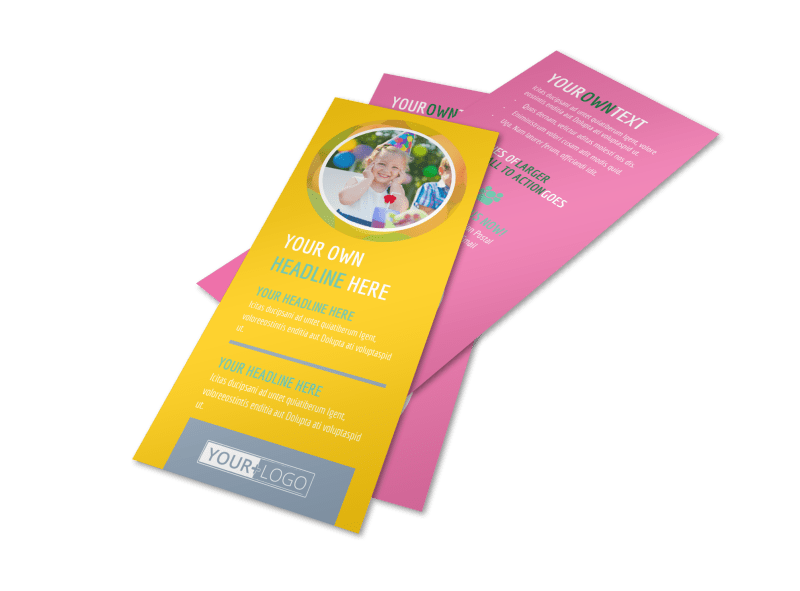 Children Party Fun Flyer Template Preview 1