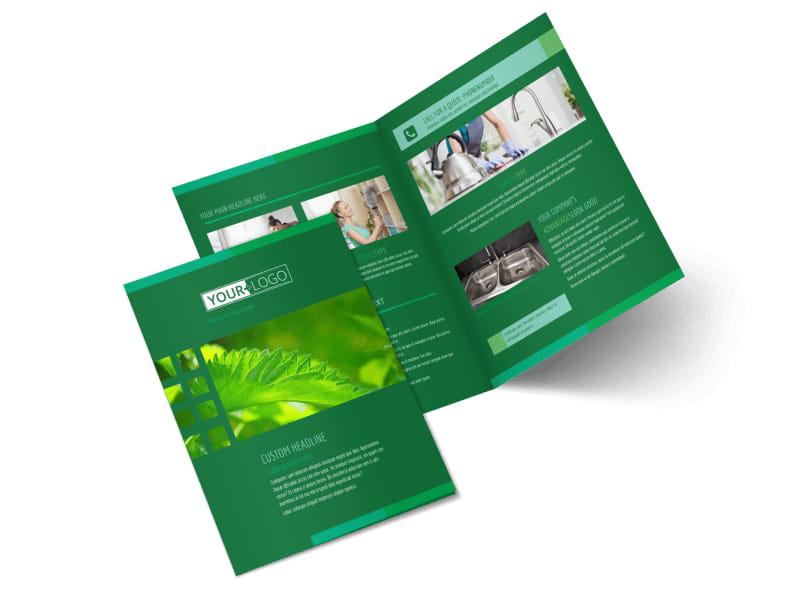 Go Green Cleaning Bi-Fold Brochure Template 2