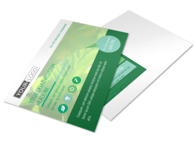 Go Green Cleaning Postcard Template 2