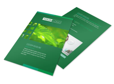 Go Green Cleaning Flyer Template 3 preview