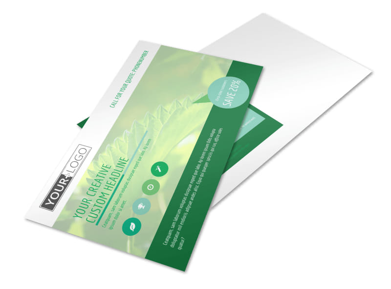 Go Green Cleaning Postcard Template