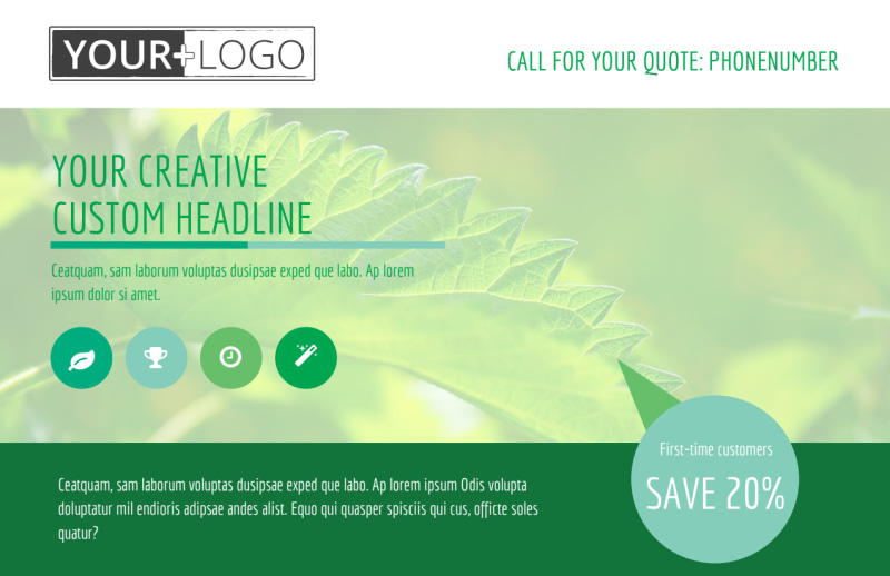 Go Green Cleaning Postcard Template Preview 2