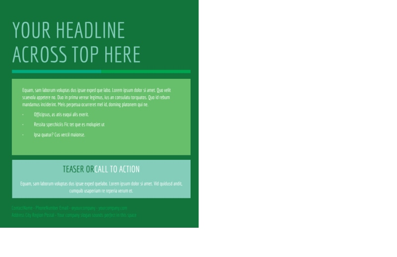 Go Green Cleaning Postcard Template Preview 3