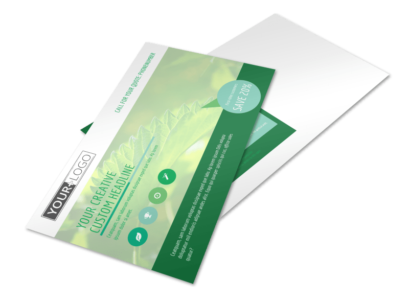 Go Green Cleaning Postcard Template Preview 1
