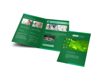 Go Green Cleaning Bi-Fold Brochure Template preview