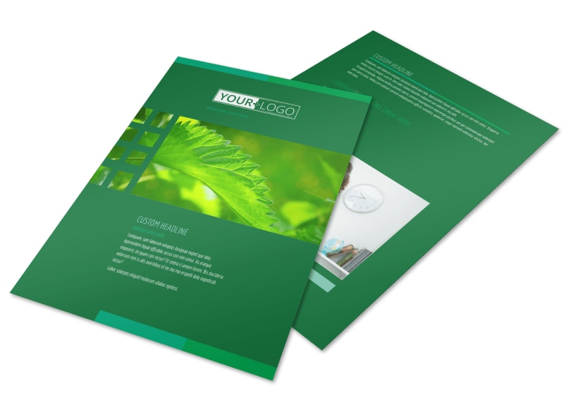 Go Green Cleaning Brochure Template  Mycreativeshop