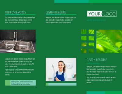 Go Green Cleaning Brochure Template Preview 1