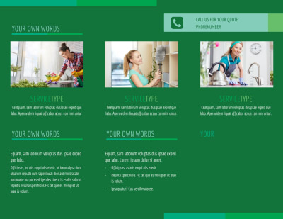 Go Green Cleaning Brochure Template Preview 2