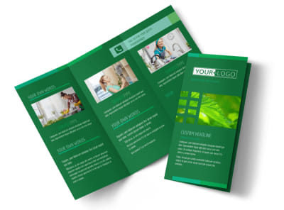 Go Green Cleaning Tri-Fold Brochure Template preview
