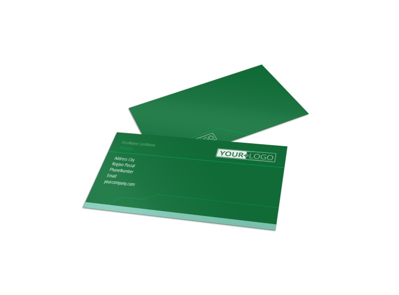 Go Green Cleaning Business Card Template Preview 4