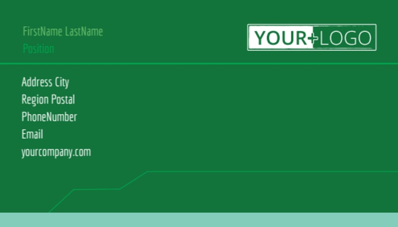 Go Green Cleaning Business Card Template Preview 2