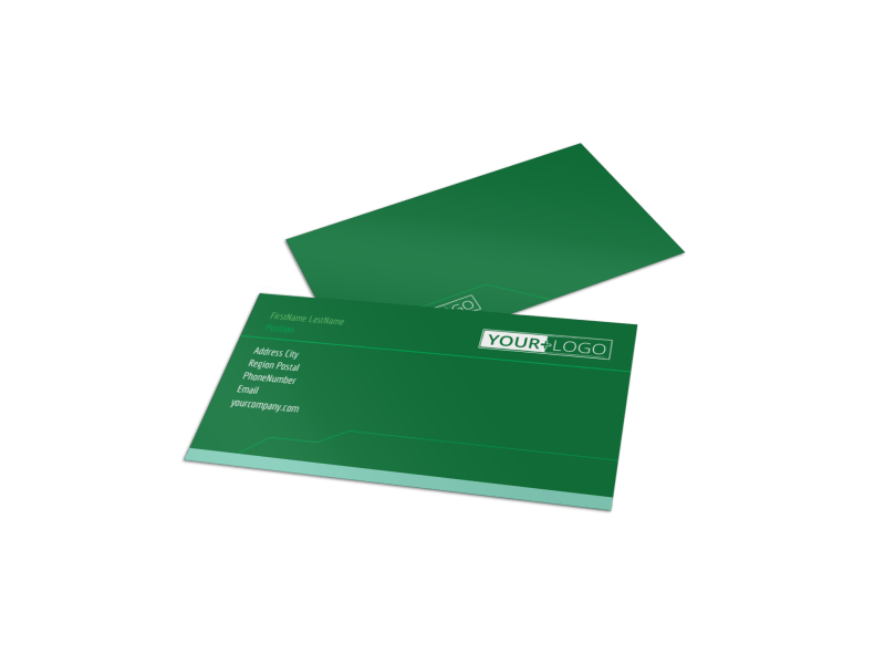 Go Green Cleaning Business Card Template Preview 1