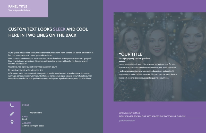 Late Night Club Party Brochure Template Preview 2