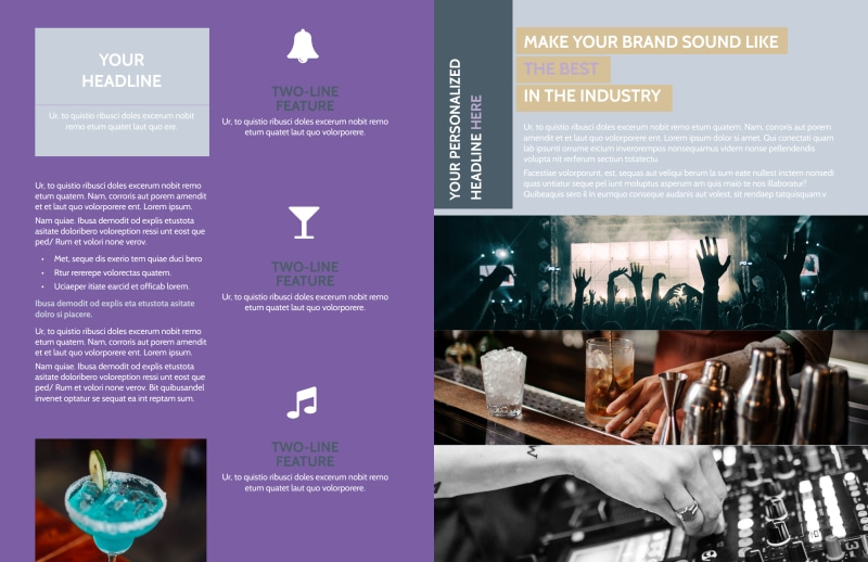 Late Night Club Party Brochure Template Preview 3