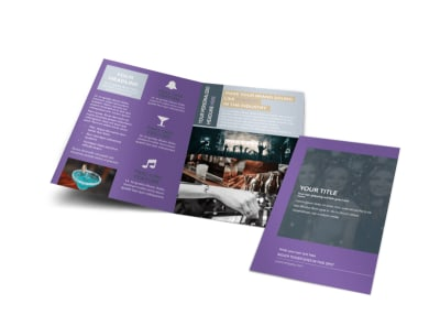 Late Night Club Party Bi-Fold Brochure Template preview