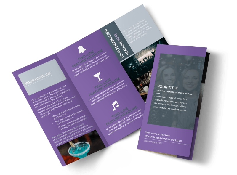 Late Night Club Party Tri-Fold Brochure Template