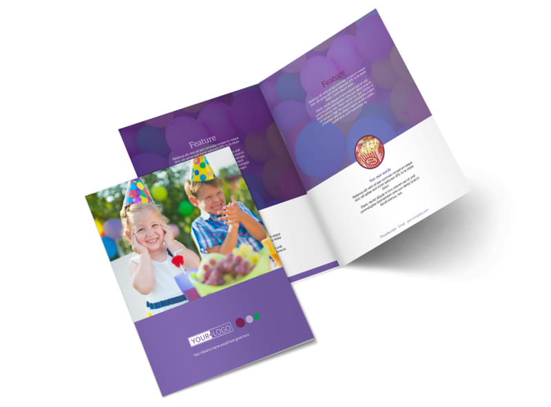 Fun Time School Party Bi-Fold Brochure Template 2