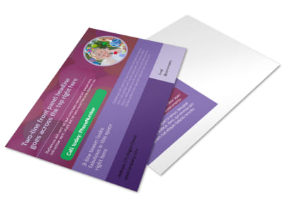 Fun Time School Party Postcard Template preview