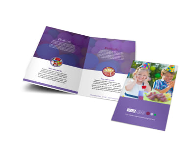Fun Time School Party Bi-Fold Brochure Template